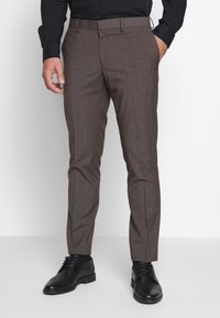 Isaac Dewhirst - CHECK SUIT - Completo - brown - 4