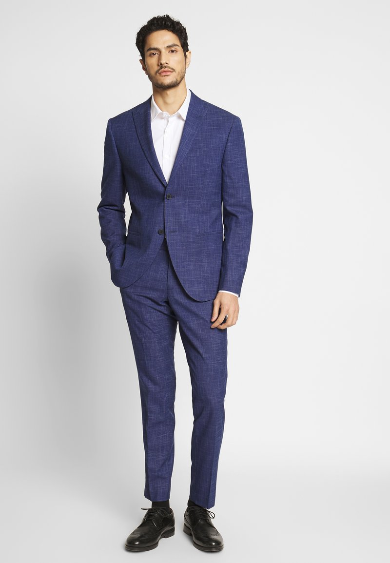 Isaac Dewhirst - TEXTURE SUIT - Oblek - blue