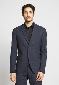 Isaac Dewhirst - CHECK SUIT - Completo - dark blue - 2
