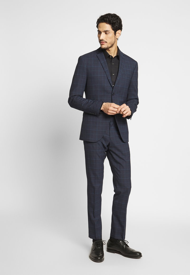 Isaac Dewhirst - CHECK SUIT - Completo - dark blue