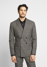 Isaac Dewhirst - TWIST CHECK SUIT - Oblek - grey - 2