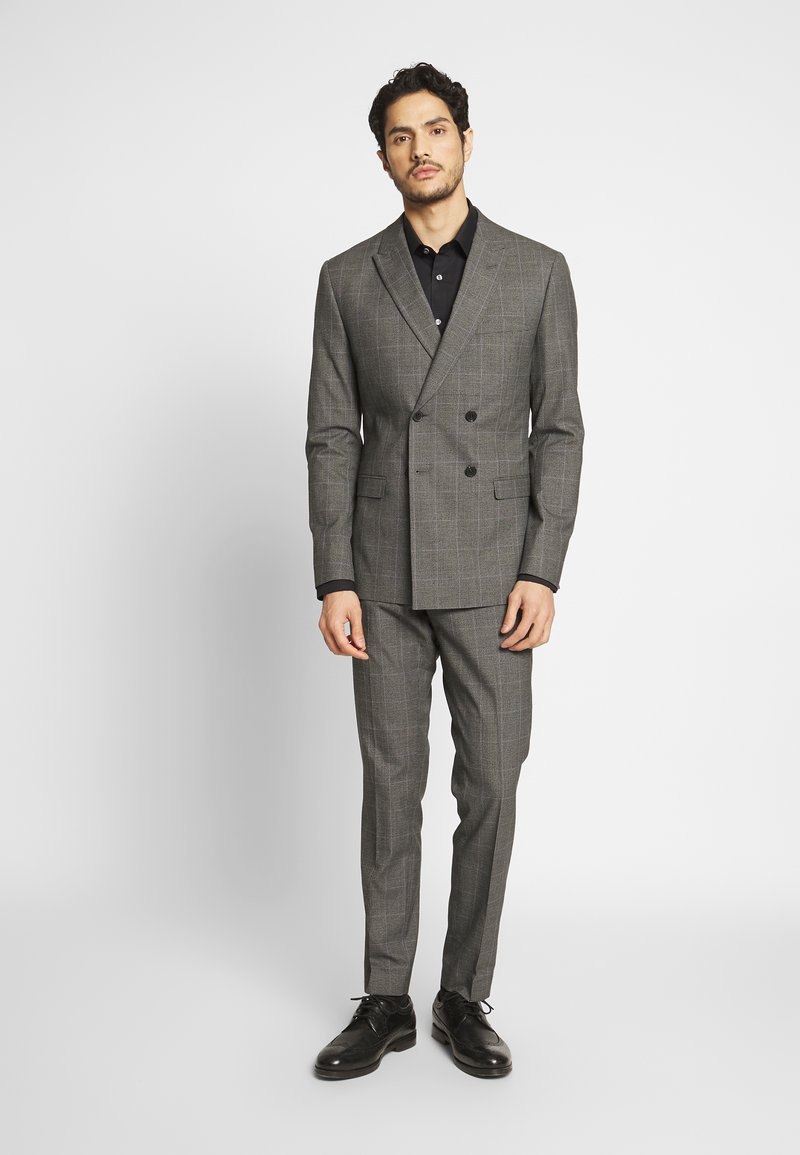 Isaac Dewhirst - TWIST CHECK SUIT - Oblek - grey