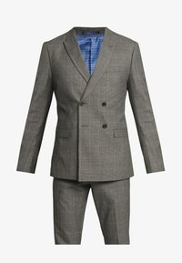 Isaac Dewhirst - TWIST CHECK SUIT - Oblek - grey - 9
