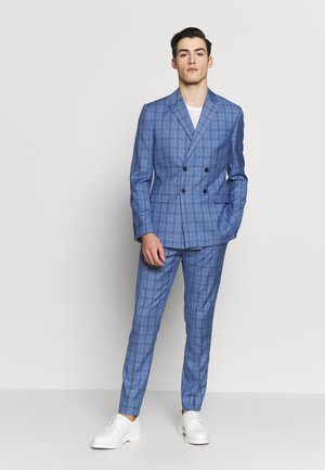 BLUE CHECK DOUBLE BREASTED SUIT - Garnitur - blue