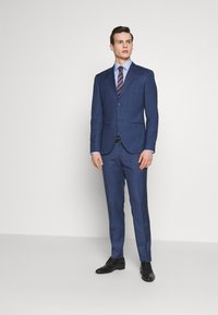 Isaac Dewhirst - BLUE TEXTURE SUIT - Completo - blue - 0