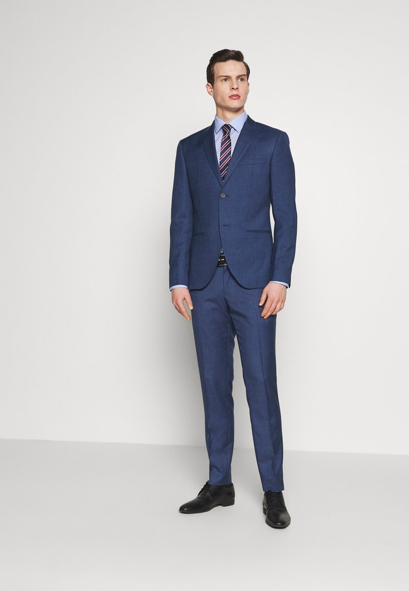 Isaac Dewhirst - BLUE TEXTURE SUIT - Completo - blue
