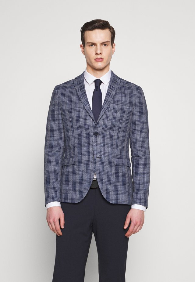 CHECKED - Blazer jacket - blue