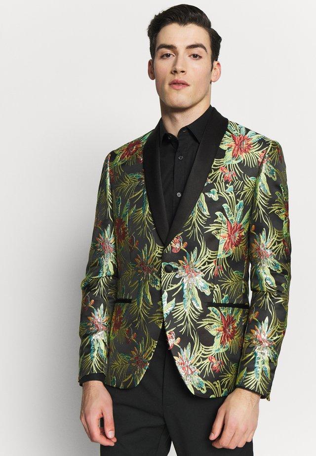 FLORAL - Blazer jacket - black