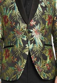 Isaac Dewhirst - FLORAL - Blazer jacket - black - 6