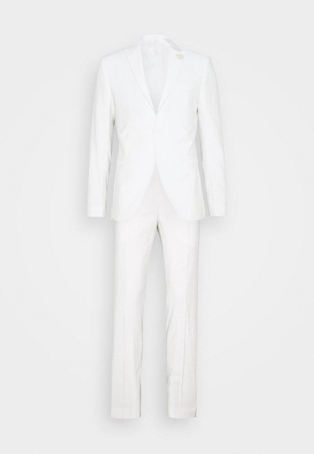 WHITE WEDDING SLIM FIT SUIT - Kostym - white
