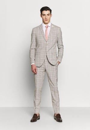 PINK CHECK SUIT WEDDING - Garnitur - grey