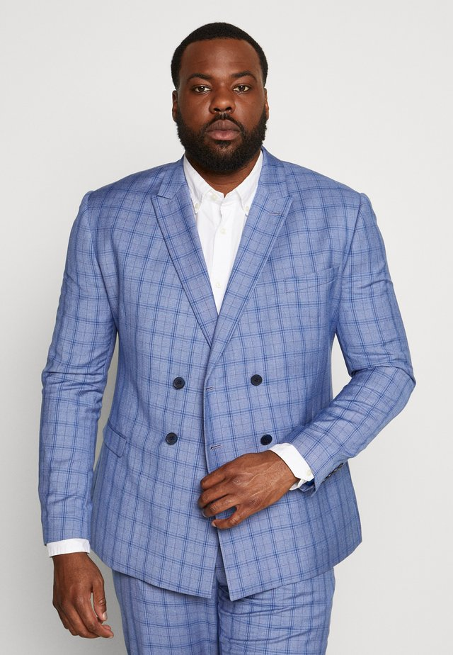 BLUE CHECK SUIT PLUS - Oblek - blue