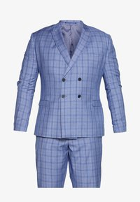 Isaac Dewhirst - BLUE CHECK SUIT PLUS - Garnitur - blue - 7