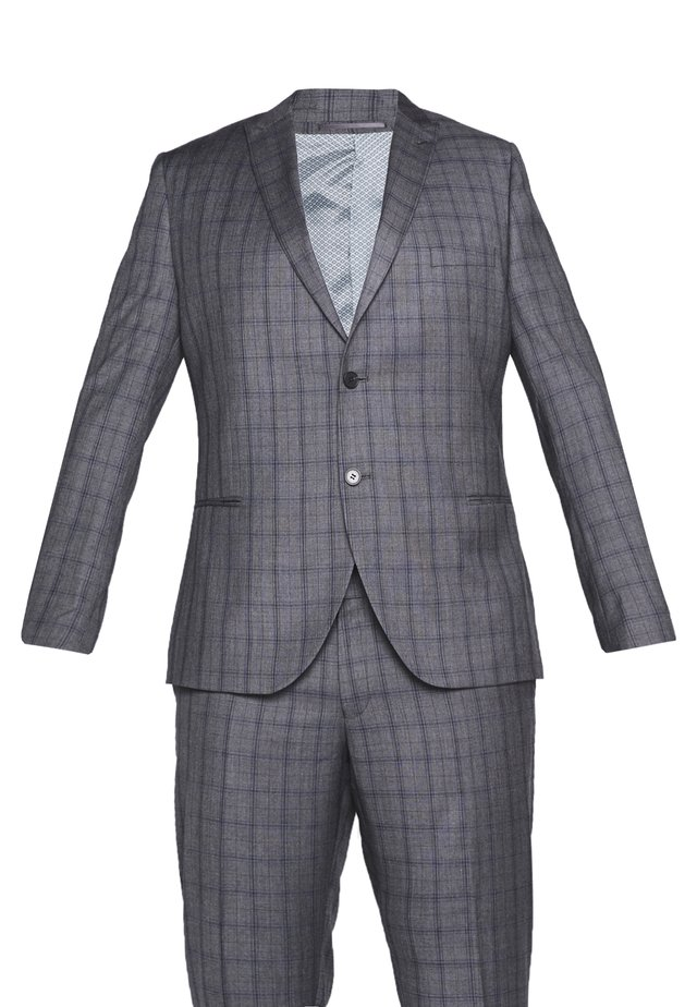 CHECK SUIT PLUS - Oblek - grey