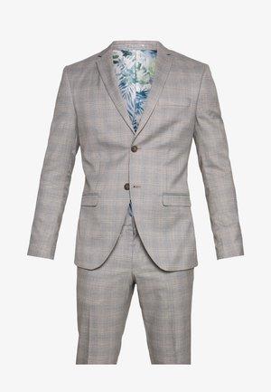 CHECK 3 PIECES SUIT - Oblek - grey