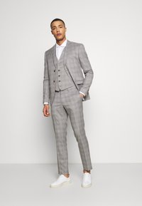 Isaac Dewhirst - CHECK 3 PIECES SUIT - Oblek - grey - 0
