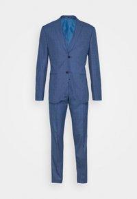 Isaac Dewhirst - BLUE CHECK 3PCS SUIT - Garnitur - blue - 12