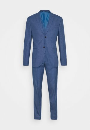 BLUE CHECK  3PCS SUIT - Garnitur - blue
