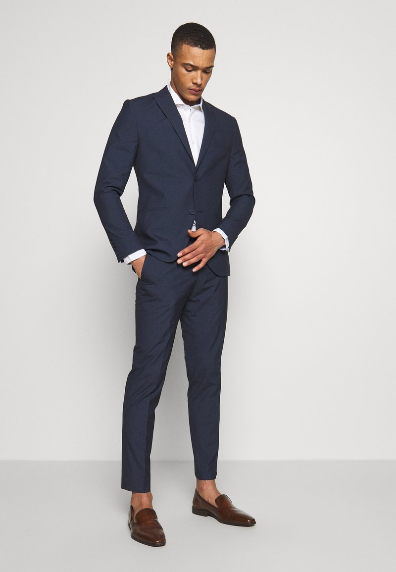 Isaac Dewhirst - RECYCLED NAVY TEXTURE - Suit - dark blue