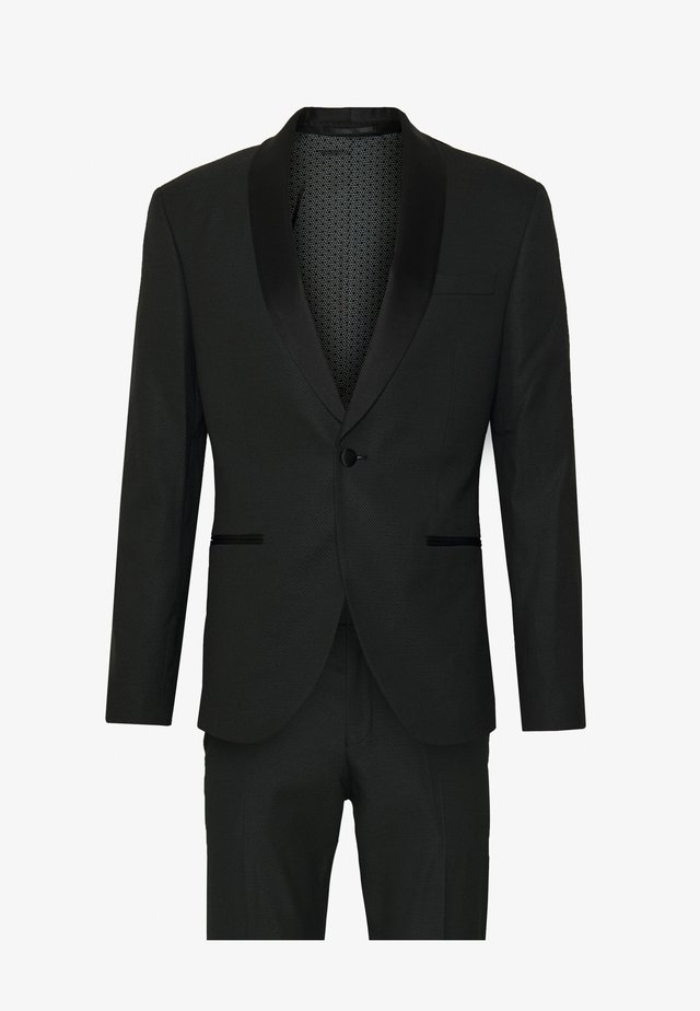RECYCLED TUX SLIM FIT SUIT - Kostym - black