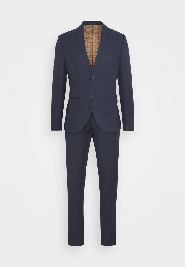 CHECK SUIT - Kostym - dark blue