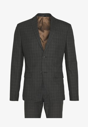 BOLD CHECK 3PCS SUIT - Completo - grey