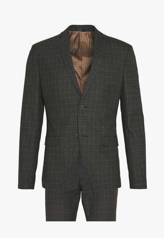 BOLD CHECK 3PCS SUIT - Suit - grey