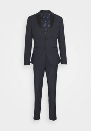 TEXTURED TUX - Garnitur - dark blue