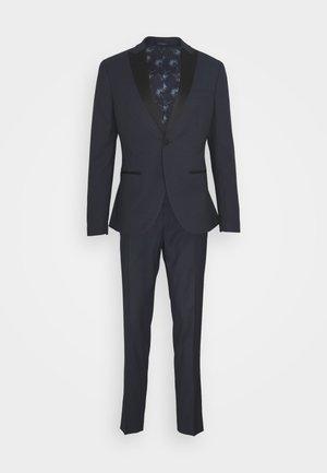 TEXTURED TUX - Oblek - dark blue