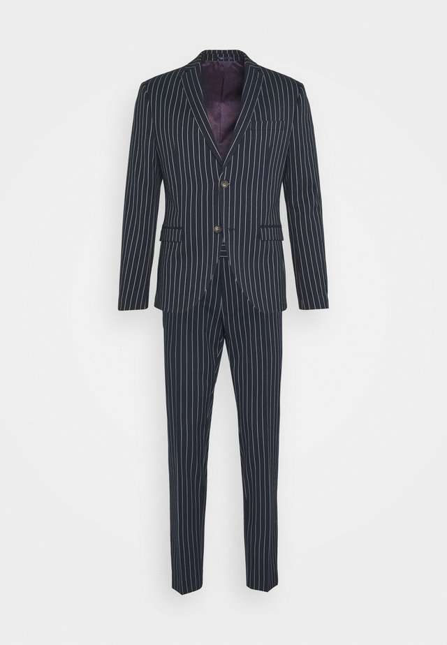BOLD STRIPE SUIT - Kostym - dark blue