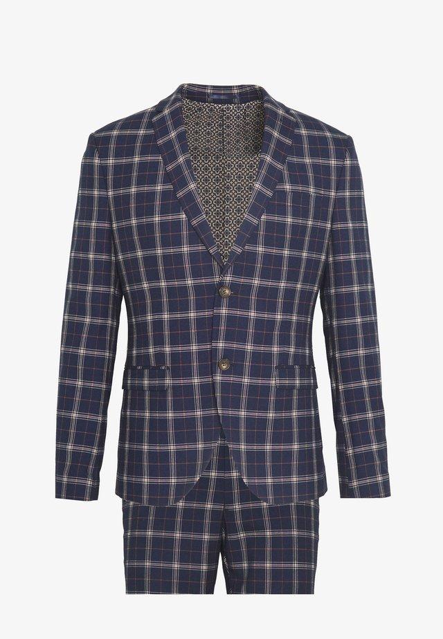BOLD CHECK SUIT - Suit - dark blue