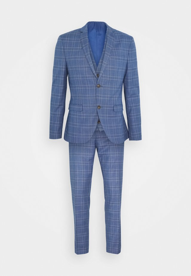 MID BLUE CHECK 3PCS SUIT - Garnitur - blue