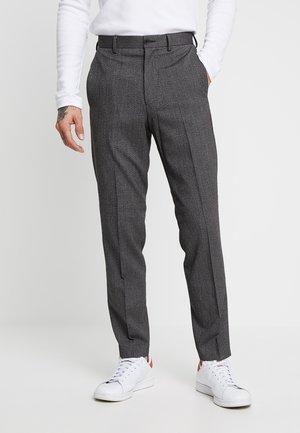 TROUSER SALT PEPPER - Suit trousers - dark grey