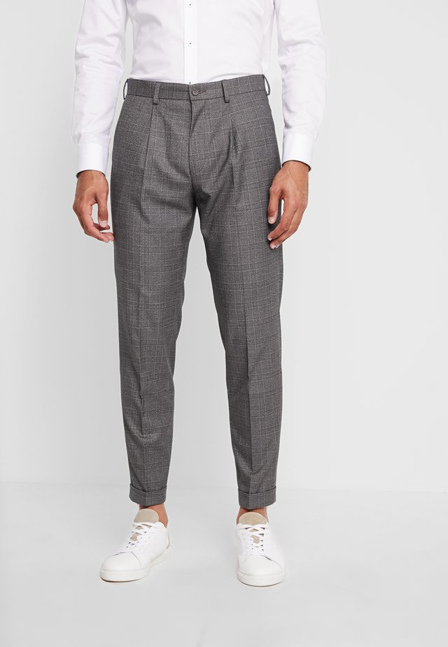 STAND ALONE CHECK - Suit trousers - grey