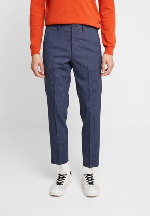 SEMI PLAIN TROUSER - Tygbyxor - navy