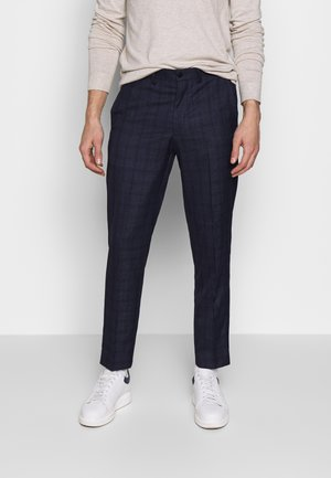 CHECK TROUSERS - Tygbyxor - navy