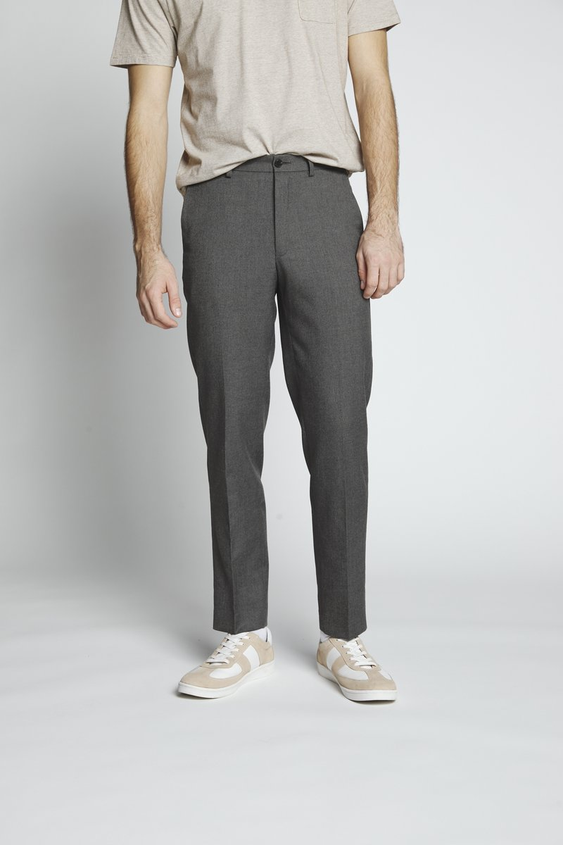 Isaac Dewhirst - FLANNEL PLAIN TROUSER - Trousers - grey