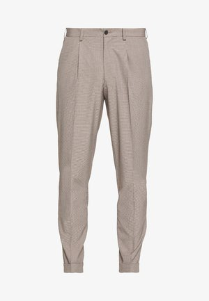 MINI PUPPYTOOTH TROUSERS WITH TURN UP - Tygbyxor - brown