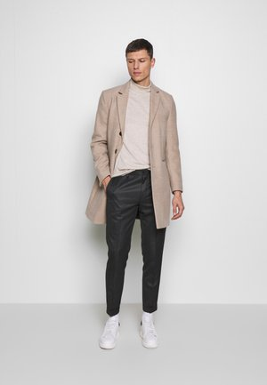 HERRINGBONE TROUSER WITH TURN UP - Tygbyxor - grey
