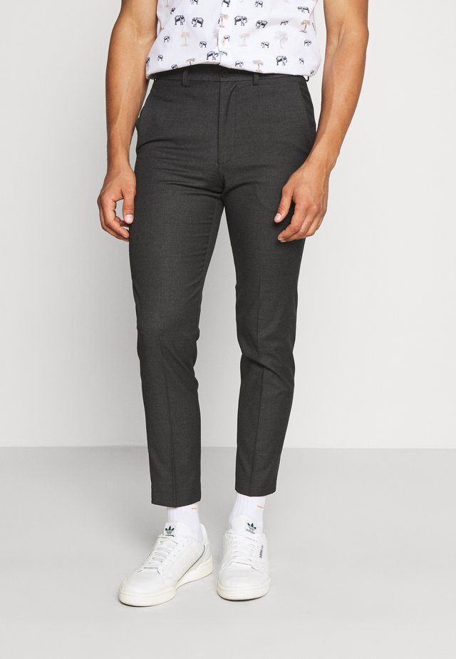 PUPPYTOOTH FLAT FRONT TROUSER - Stoffhose - charcoal