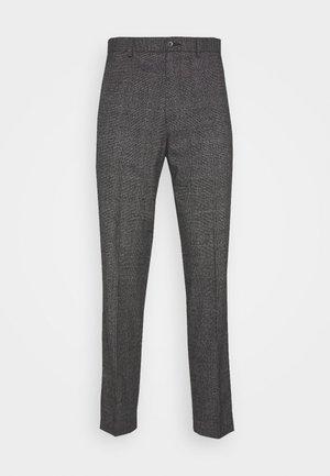 CHECKED TROUSER FLAT FRONT - Pantaloni - grey