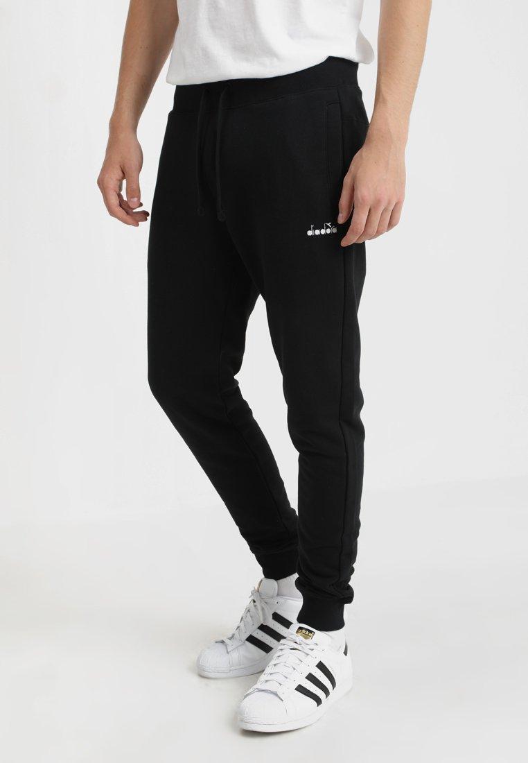 Diadora Heritage - PANT - Tracksuit bottoms - black/optical white