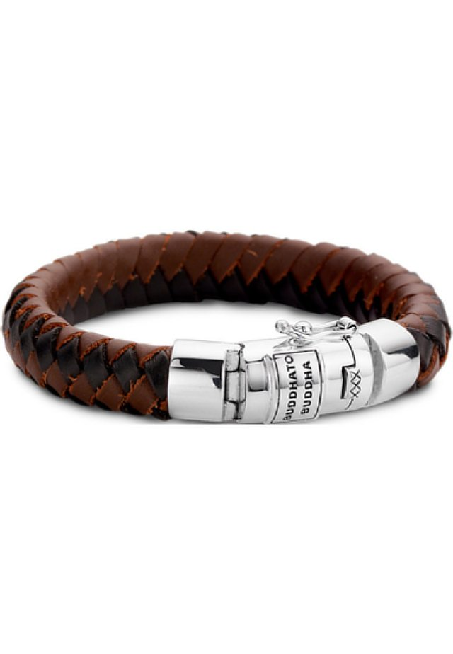 BUDDHA TO BUDDHA UNISEX-ARMBAND 925ER SILBER - Bracelet - braun