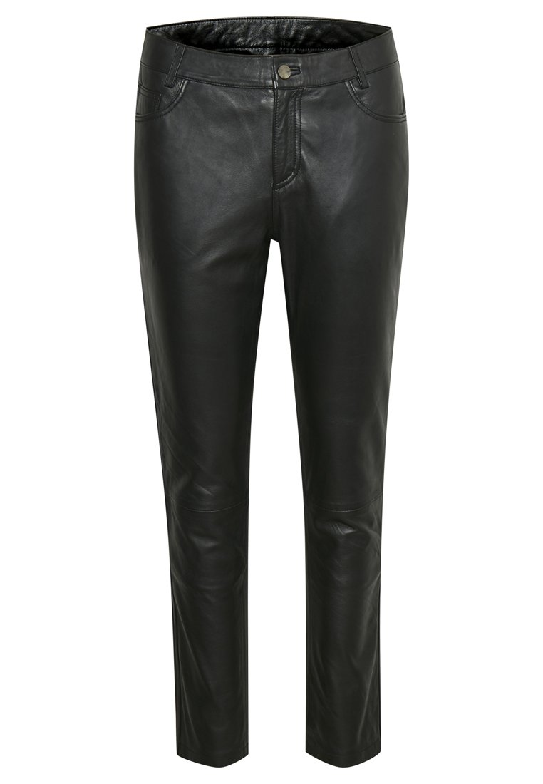 Denim Hunter Spodnie skórzane - black