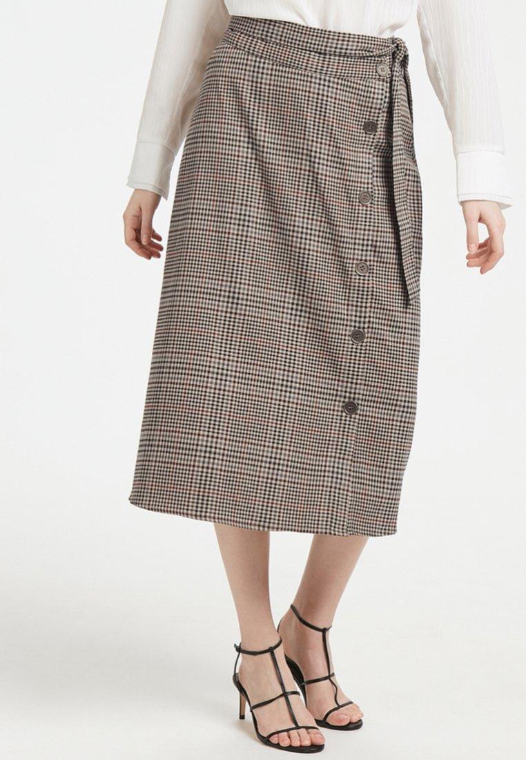 Denim Hunter - KATANA - Spódnica trapezowa - grey melange