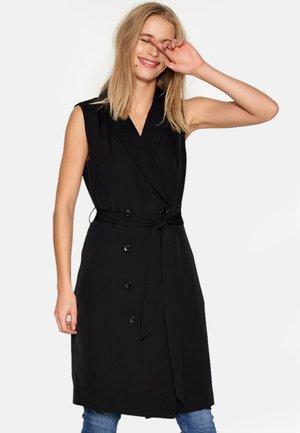 DHDIA WAIST COAT DRESS WOVEN - Freizeitkleid - black