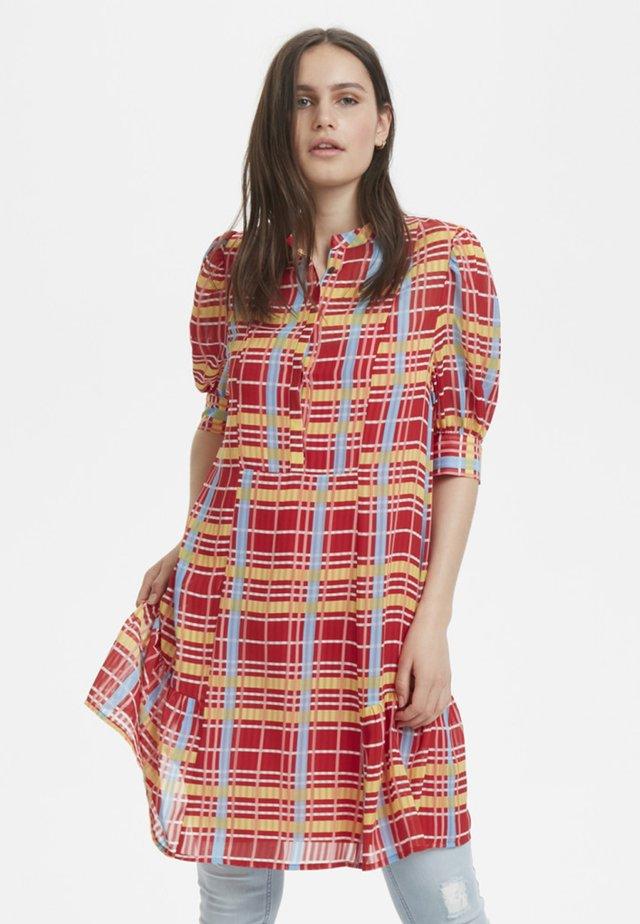 Shirt dress - tango red