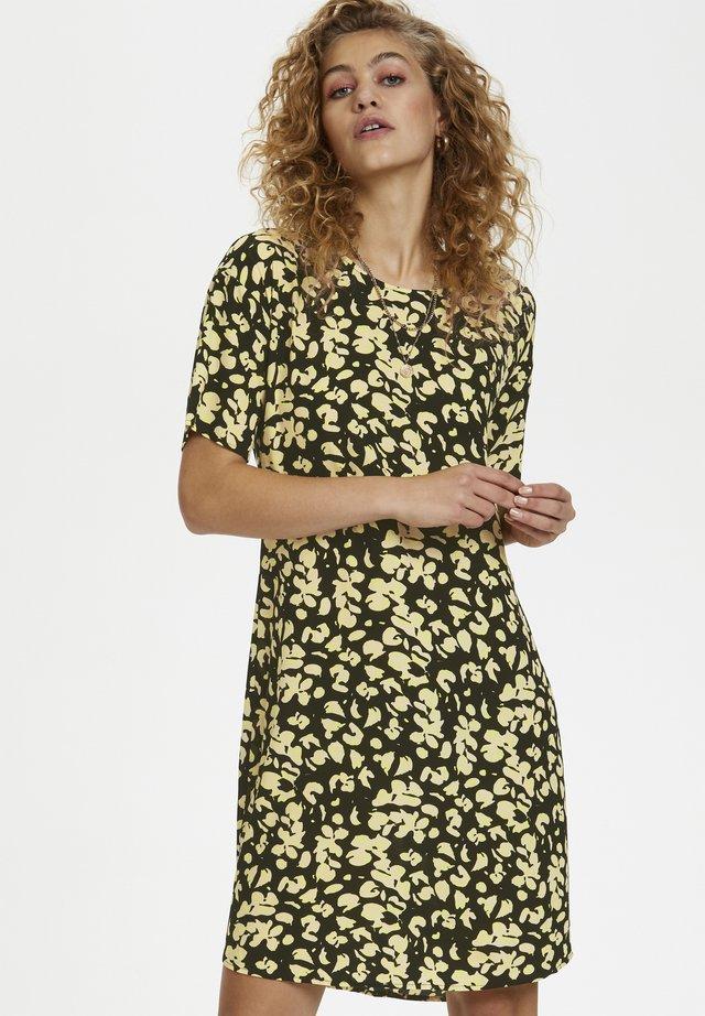 DHHOPE SINE  - Sukienka letnia - black/yellow