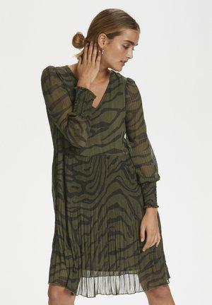 Korte jurk - black zebra print