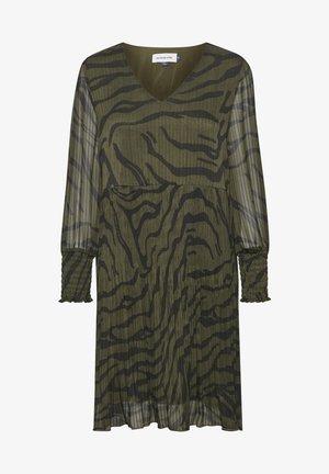 Vestido informal - black zebra print